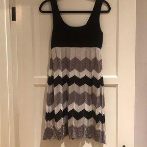 BEBE Zigzag Babydoll Dress, NWT Size L